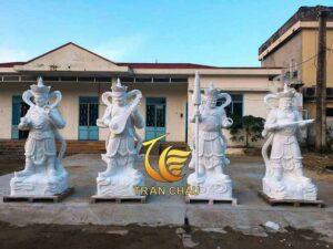 Làm Bộ Tượng Tứ Đại Thiên Vương Trong Phật Giáo Cho Chùa